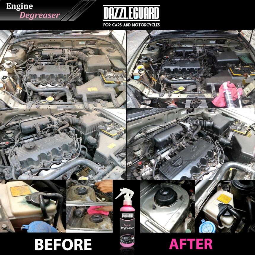before-after-engine-degreaser-dazzleguard-pembersihruangmesin-blokmesin-pengkilapmesin